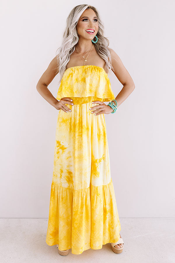 Craving Cabo Tie Dye Maxi In Yellow