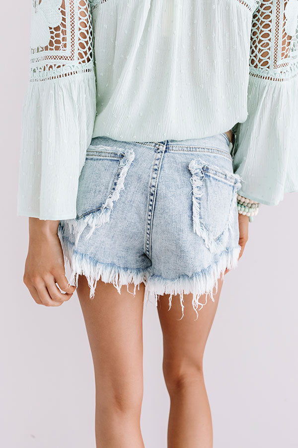 The Mindy High Waist Frayed Shorts
