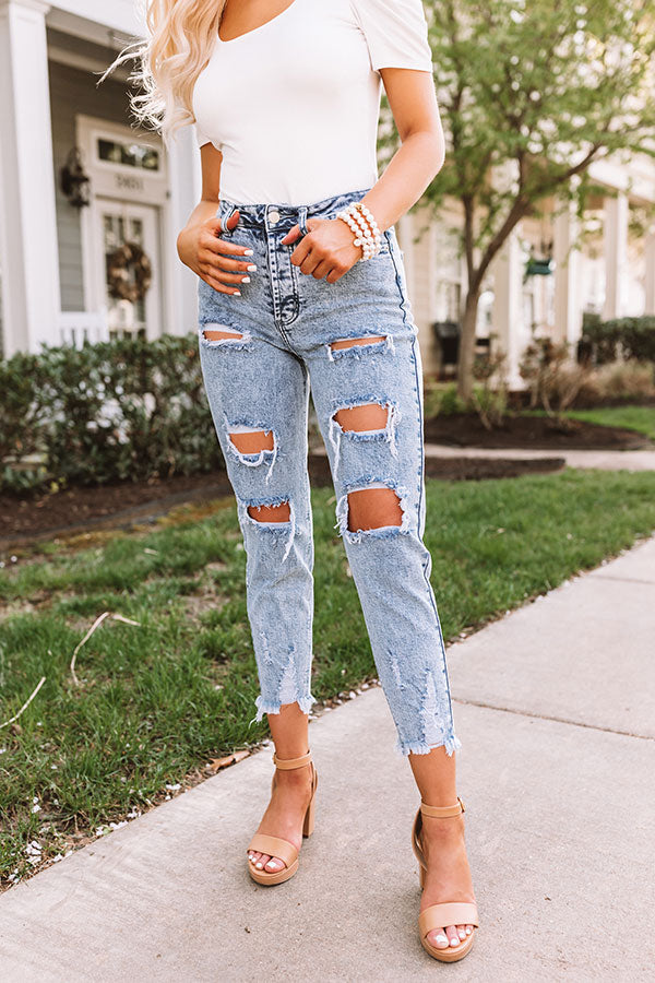 The Ardette High Waist Distressed Skinny