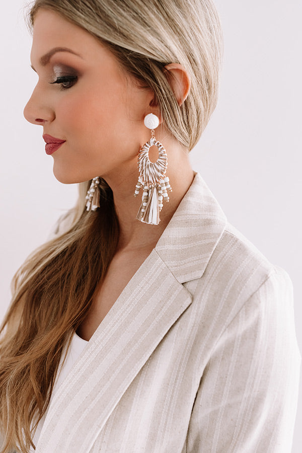 SoCal Surf Tassel Earrings