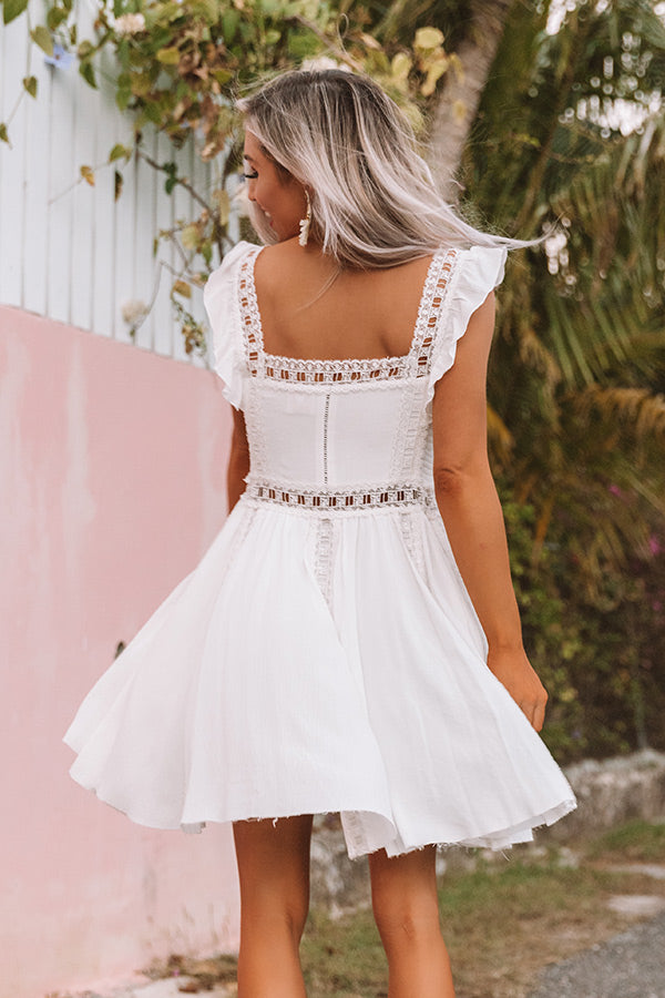 Tea In The Garden Lattice Trim Dress