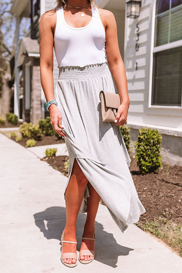 West Coast Story Maxi Skirt in Grey