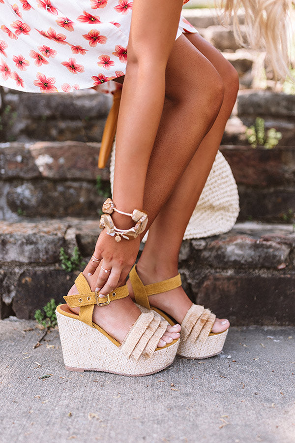 The Rosella Wedge In Mustard