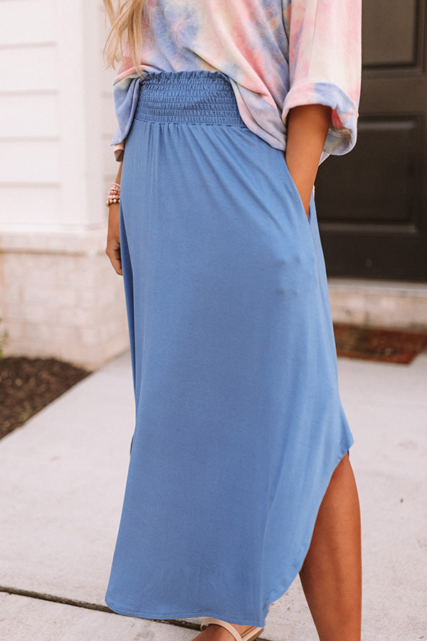 West Coast Story Maxi Skirt in Blue