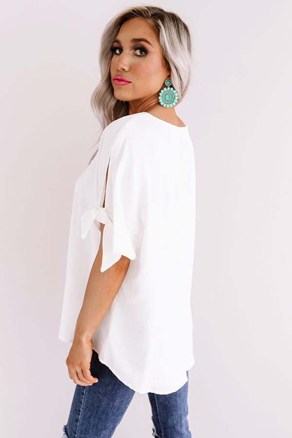 Away On A Jet Plane Shift Top In White