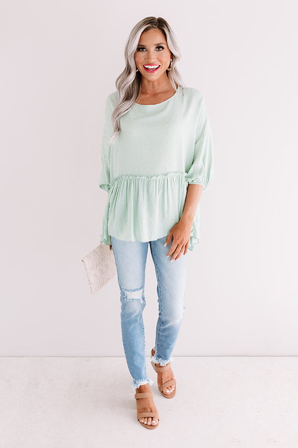 Maui Market Shift Top In Mint