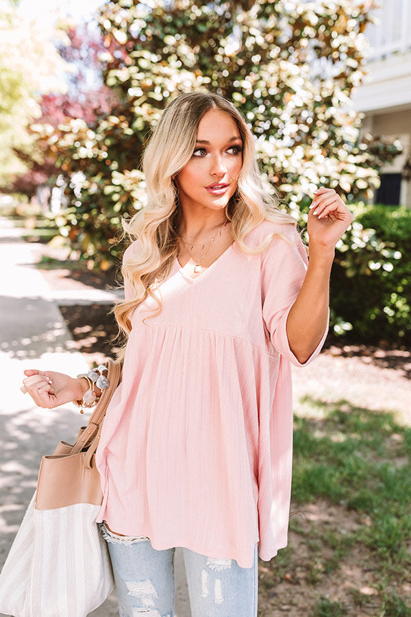 Bondi Bliss Babydoll Top In Pink