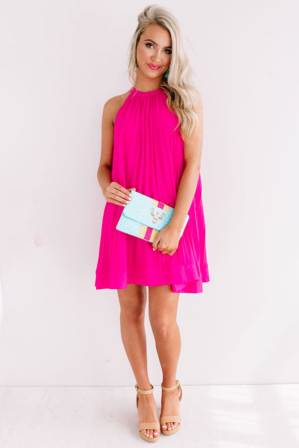 Arriving In Aruba Pleated Dress