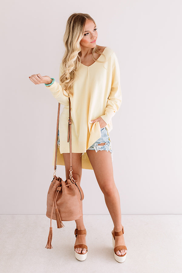 Great Idea Shift Tunic In Yellow