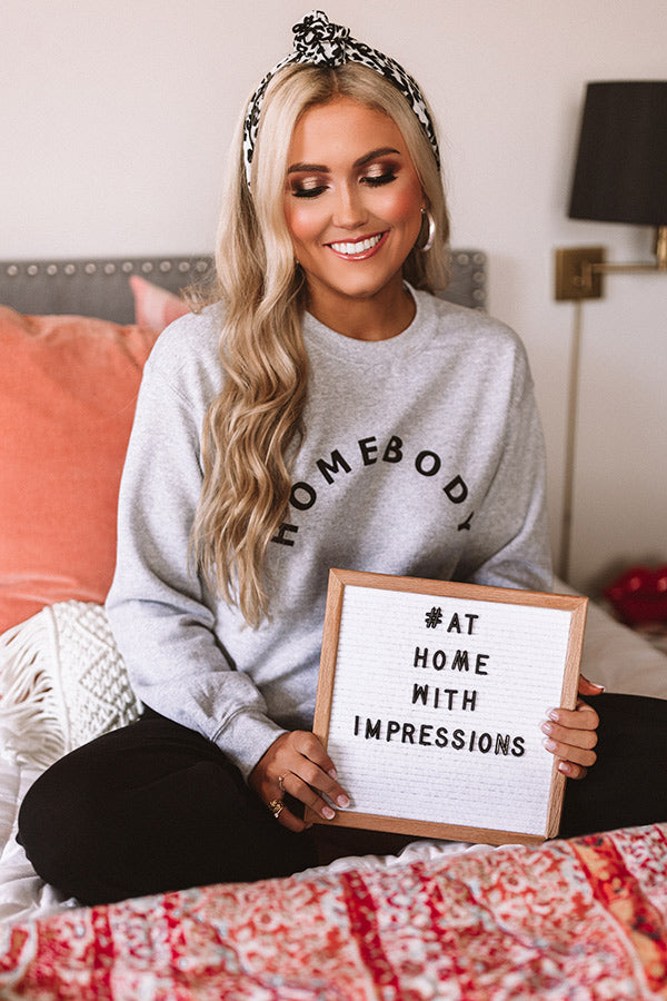 Homebody Sweatshirt in Grey