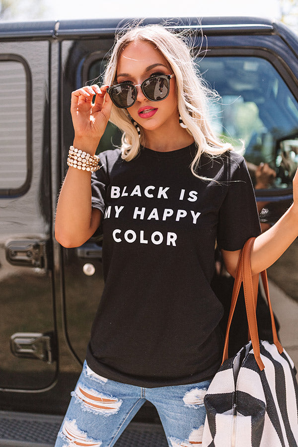 Black Is My Happy Color Shift Tee