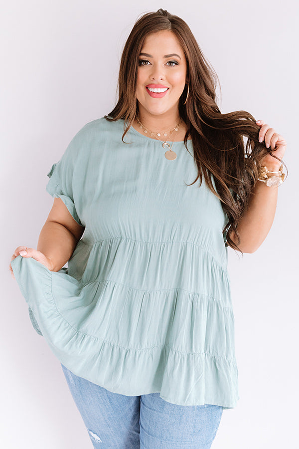 Simply Southern Babydoll Top in Pear
