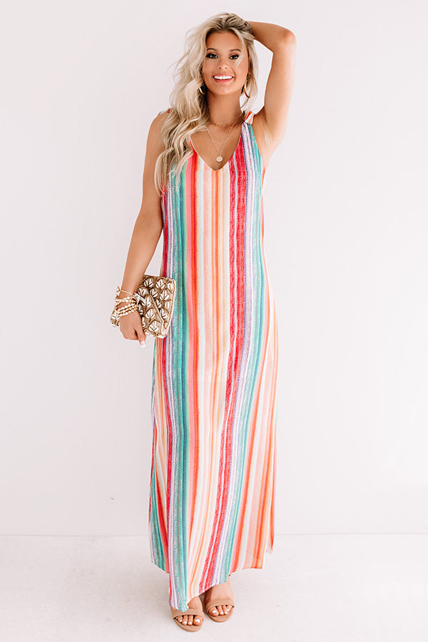Santorini Skyline Stripe Maxi Dress