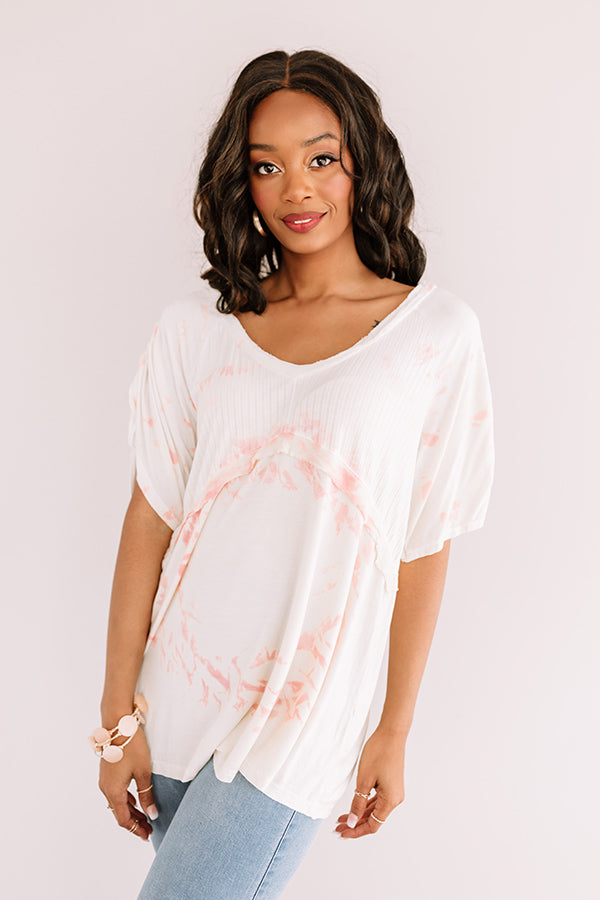 Melrose Movie Night Shift Top in Cream