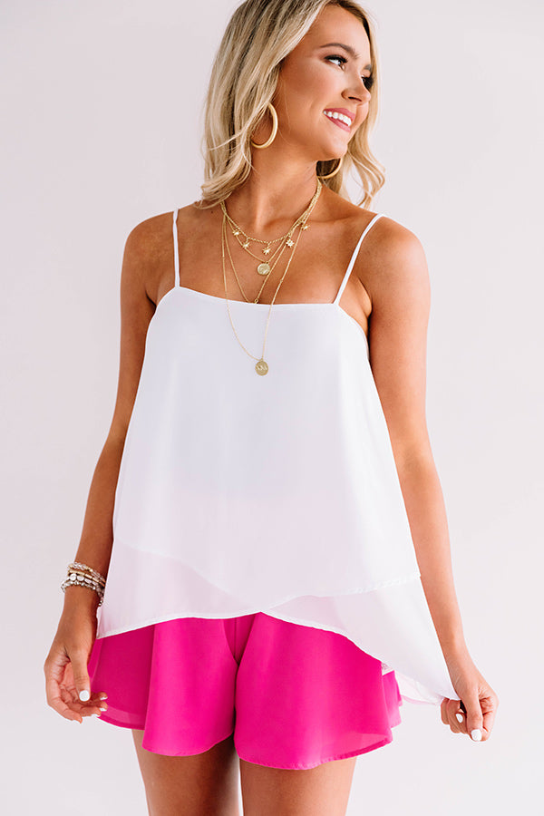 Forever Charming Tank In White
