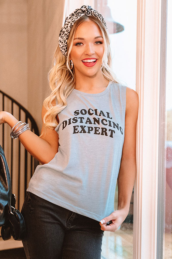 Social Distancing Expert Tank In Airy Blue