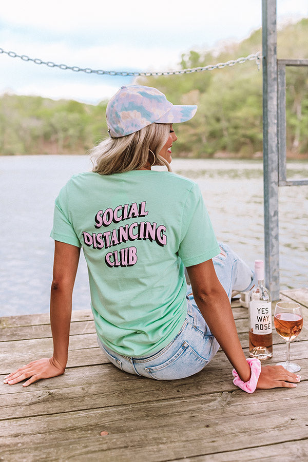 Social Distancing Club Tee In Mint