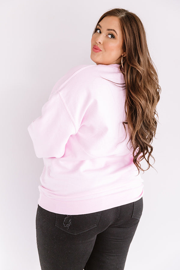 Quarantine And Chill Sweatshirt in Pink