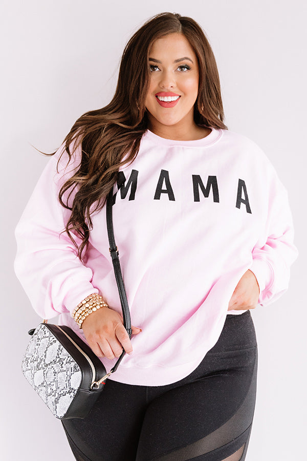 Mama Sweatshirt In Pink