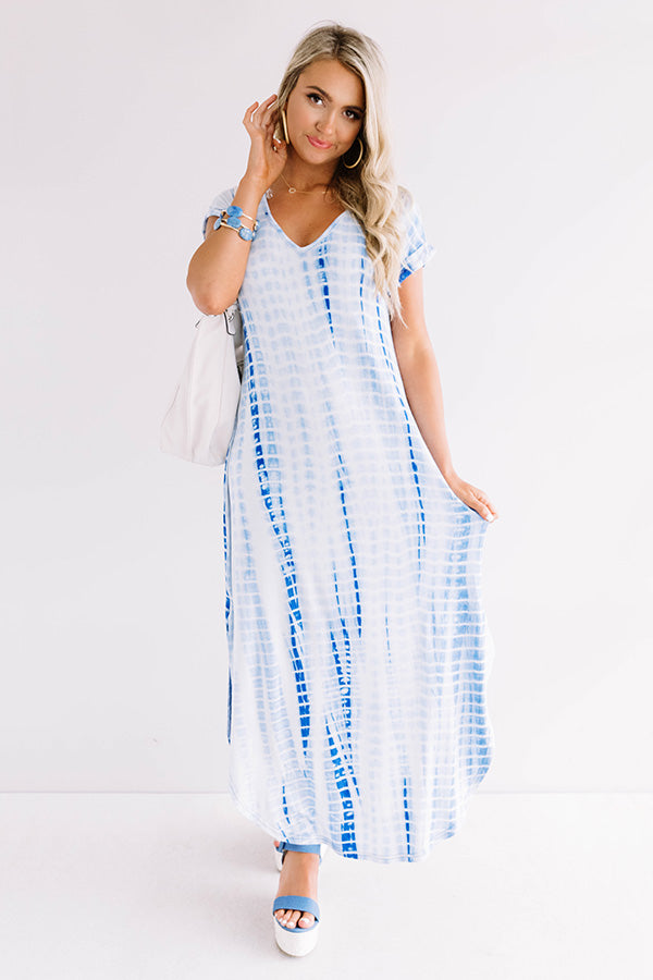 Portofino Party Tie Dye Maxi In Blue