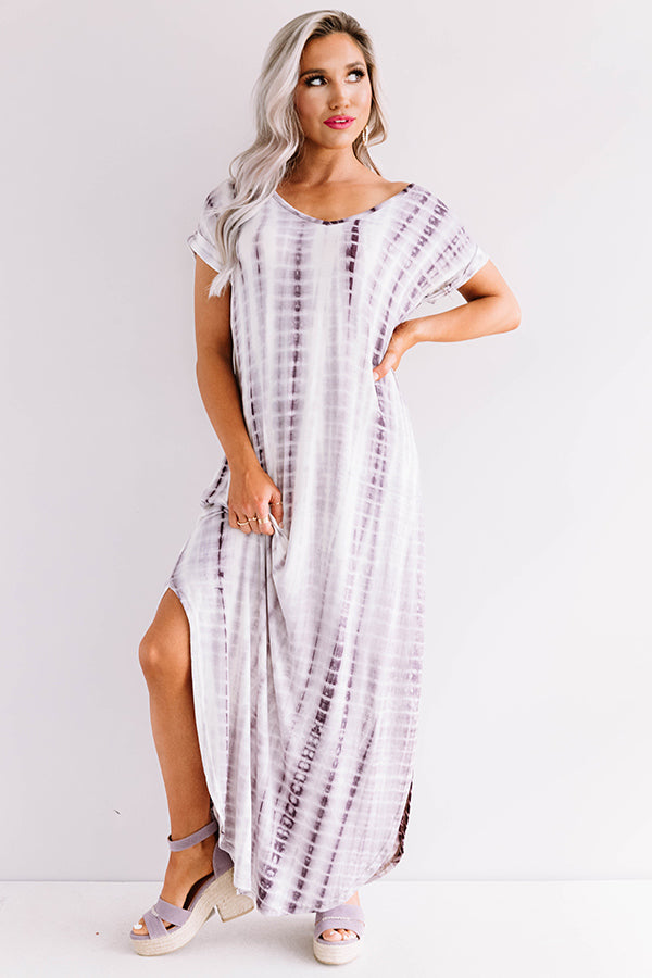 Portofino Party Tie Dye Maxi In Royal Plum