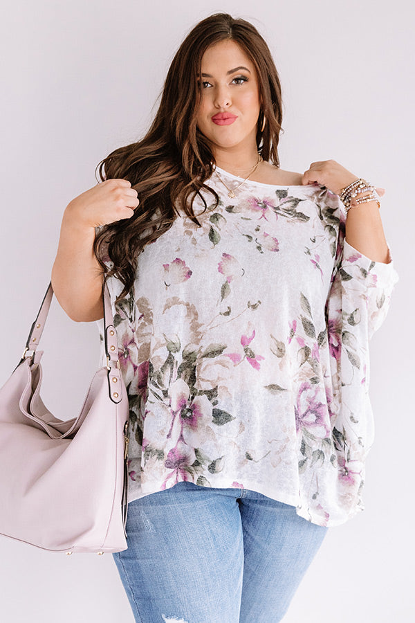 Small Town Memories Floral Knit Top