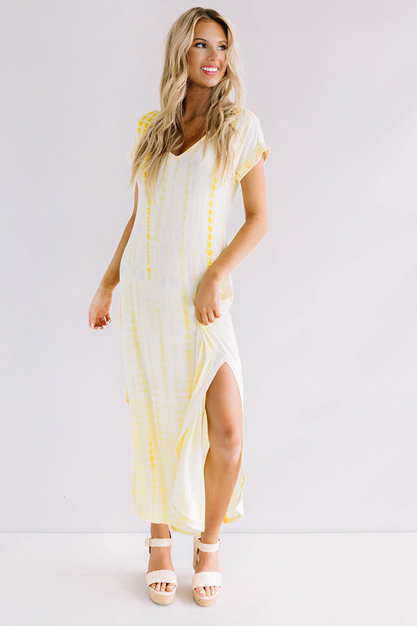 Portofino Party Tie Dye Maxi In Yellow