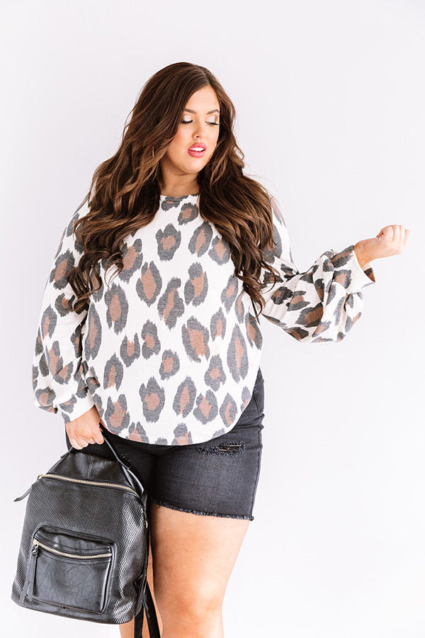 Living In Leopard Shift Top