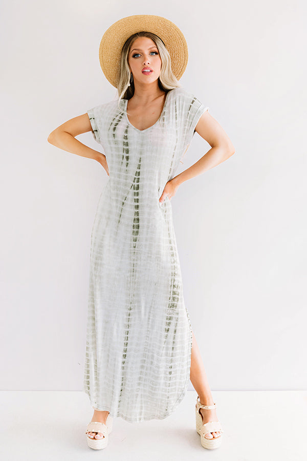 Portofino Party Tie Dye Maxi In Sage