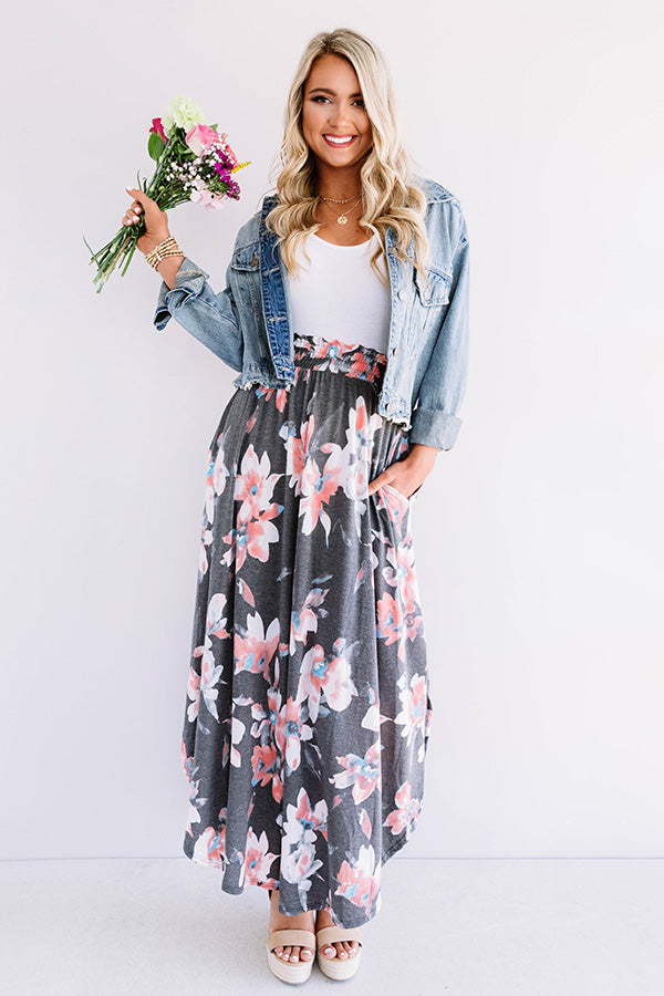 Better In Blooms Skirt In Coral