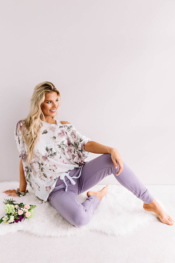 Play It Cozy Midrise Joggers in Lavender