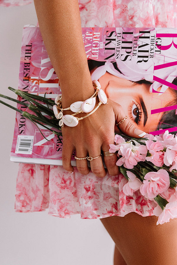 The Peony Bangle Bracelet