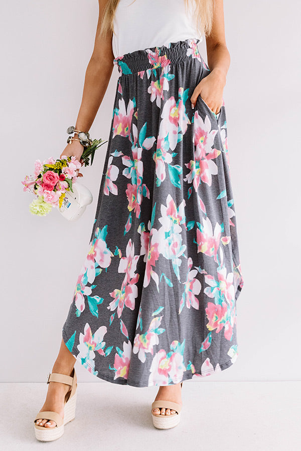 Better In Blooms Skirt In Turquoise