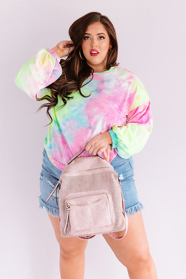 Give It A Swirl Tie Dye Sweatshirt in Violet