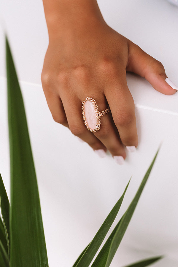 Macrame Ellen Rose Gold Cocktail Ring