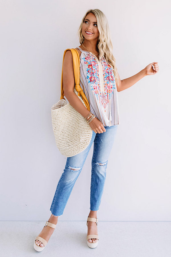 Seaside Sweetie Embroidered Top
