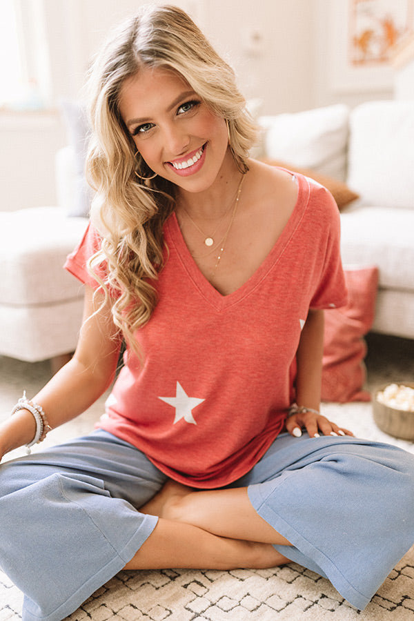 Happy At Home Shift Tee In Red