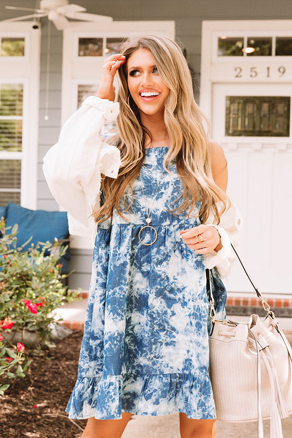 Up To Fate Chambray Dress