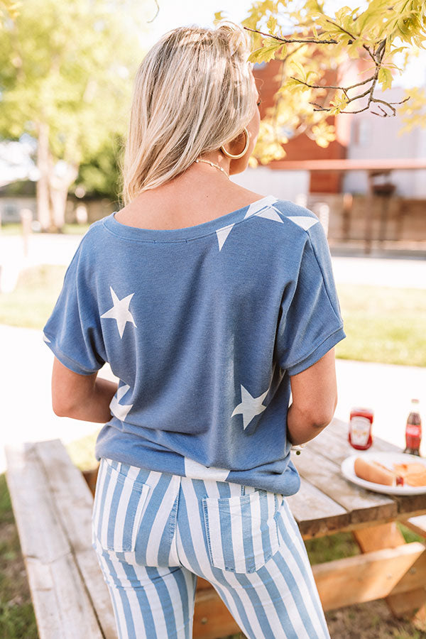 Happy At Home Shift Tee In Blue