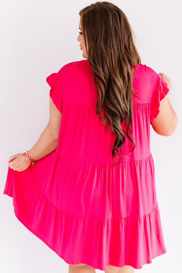 Story Of Us Babydoll Dress In Rose