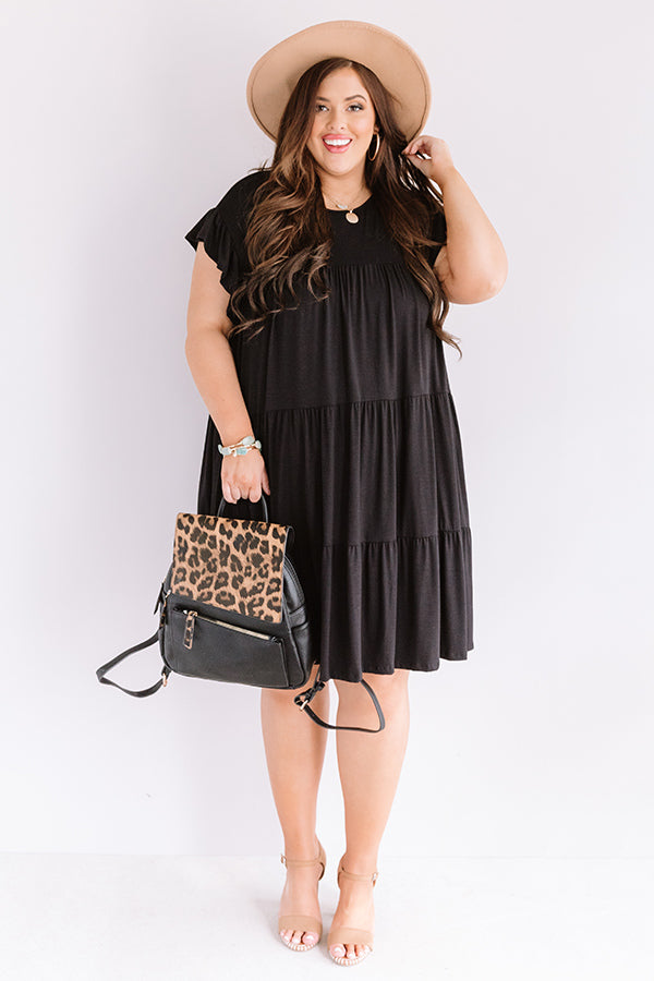 Story Of Us Babydoll Dress In Black