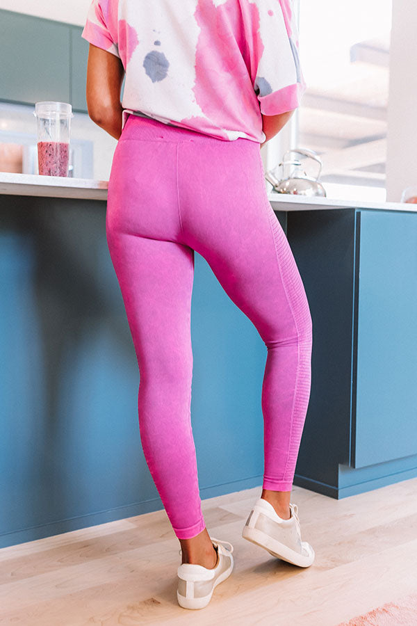 Bright And Early High Waist Legging In Fuchsia