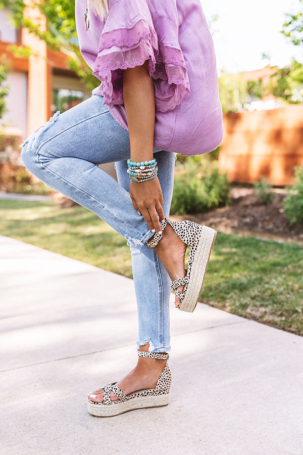 The Hollis Espadrille In Cheetah