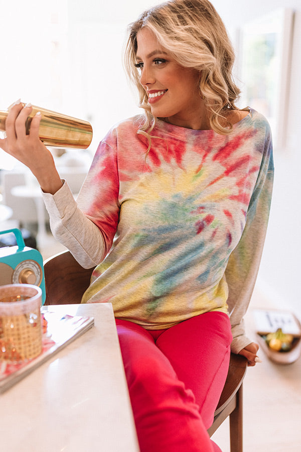 Meant For More Tie Dye Tee in Birch