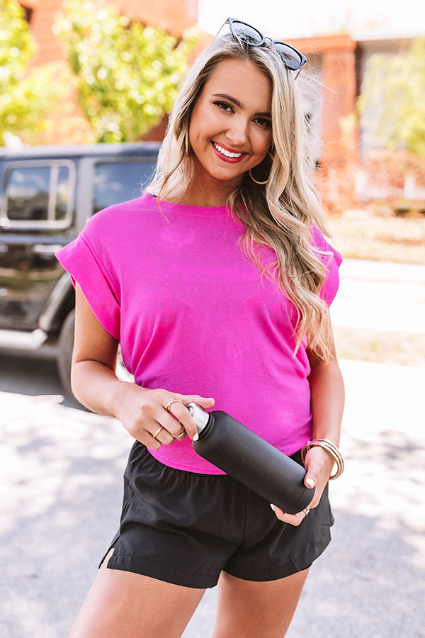 Peekaboo Shift Tee In Pink