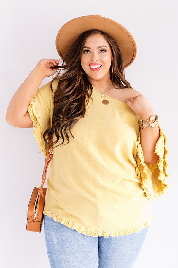 Positano Party Shift Top In Primrose Yellow