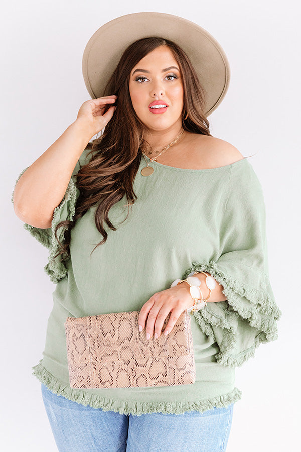 Positano Party Shift Top In Pear