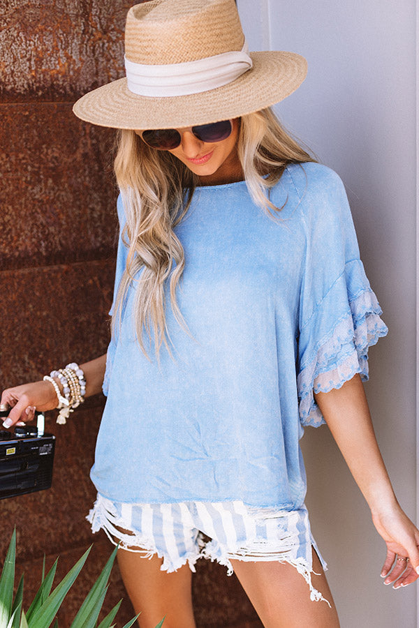 Timeless In Tribeca Shift Top In Blue