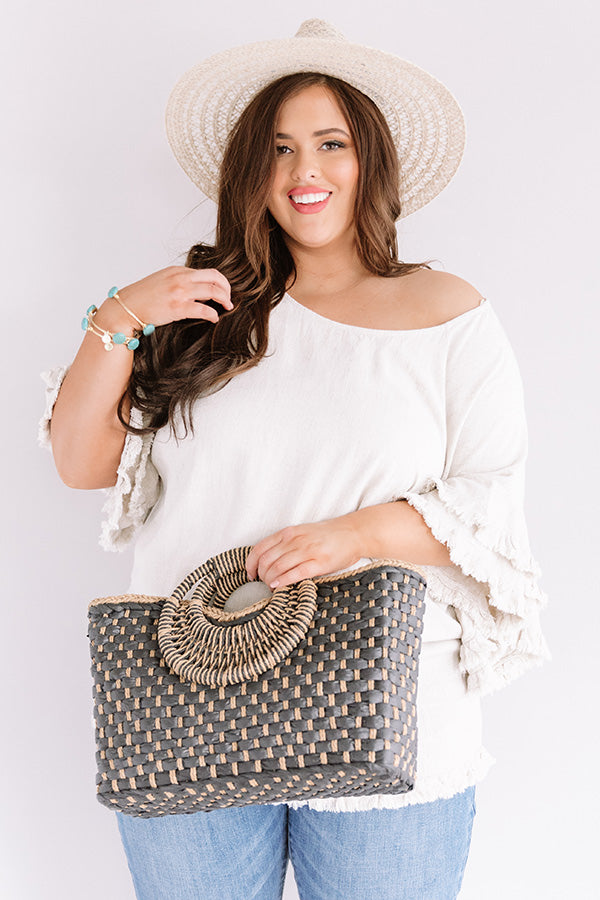 Positano Party Shift Top In Stone