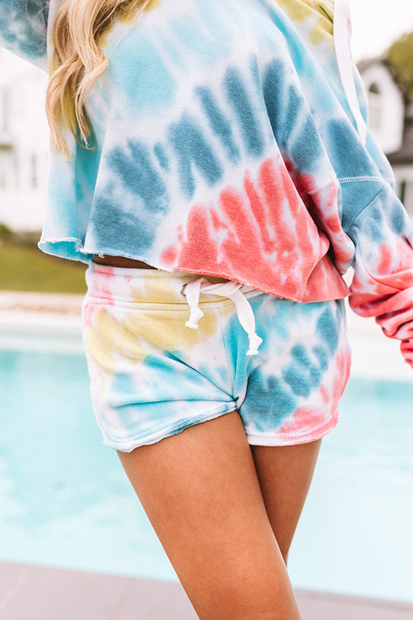 Charms And Kisses Tie Dye Shorts